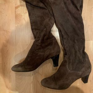 Cole Haan Nike Air Brown Suede boots